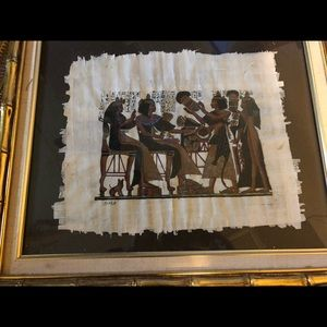 Authentic Egyptian Scroll Painting Signed!!